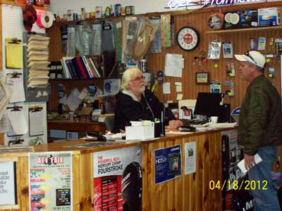 Service Desk at Lyback's Marine on Mille Lacs Lake