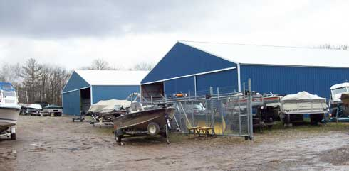 Boat Storage Sheds at Lyback's Marine